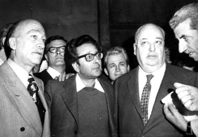 Giorgio Almirante, Pino Rauti e Gastone Nencioni