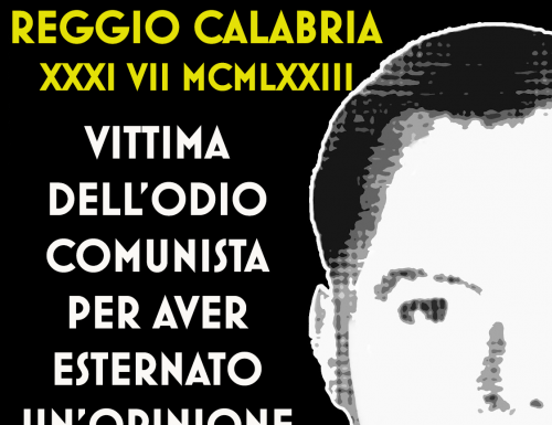 Santostefano ucciso dall'odio comunista – 31 luglio 1973