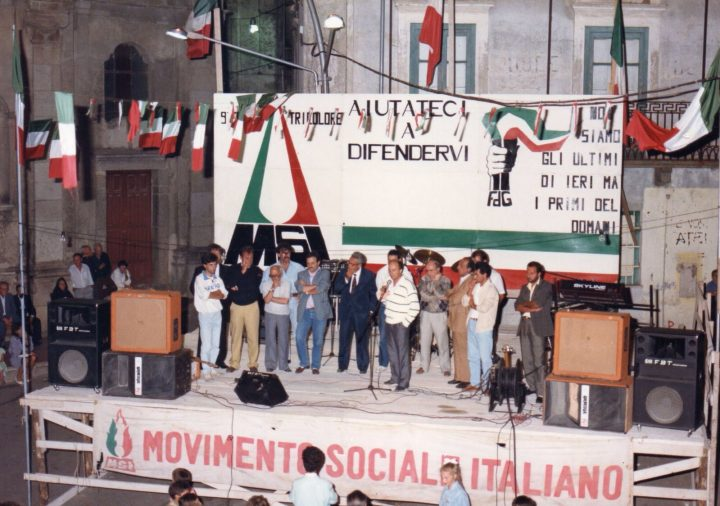 Pino Rauti a Chiaravalle Centrale (Catanzaro)